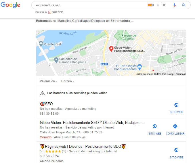 ¿Que es el Paquete local de Google? 2